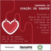Campanha de Doação de Sangue - Hospital de Caridade Canguçu