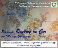 Convite para Exposição Rastos de Cor - Hospital de Caridade Canguçu