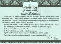 Convite - Hospital de Caridade Canguçu