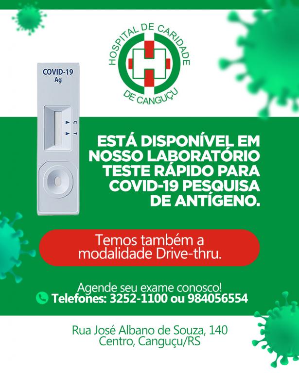 TESTE COVID-19 - Hospital de Caridade Canguçu